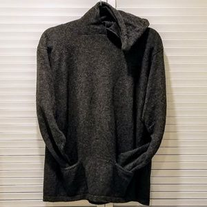 Vintage Merino Wool Blend Hooded Sweater
